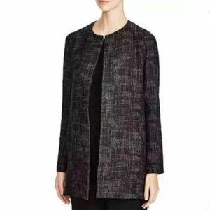 Eileen Fisher Black Texture Tencel Jacket 1X Plus